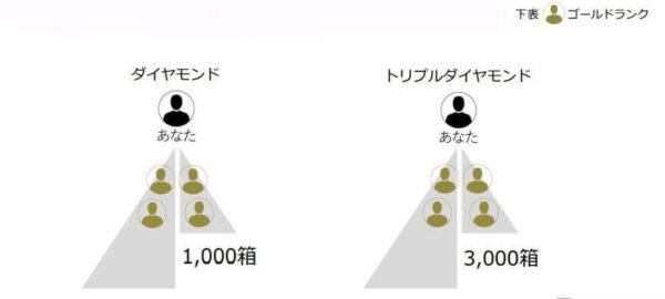 ランクの種類と条件 ダイヤモンド