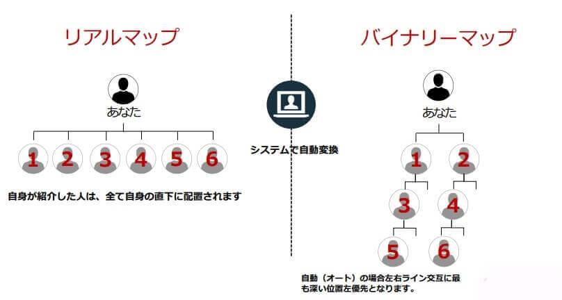 2つの組織図が構築される